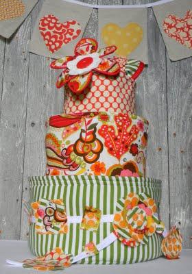 Fabric baby cake