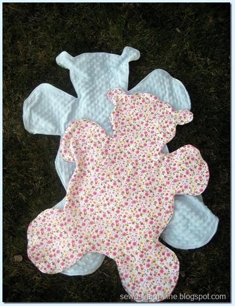 Cuddly bear baby blankets