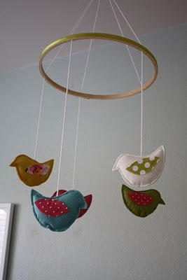 Baby bird mobile