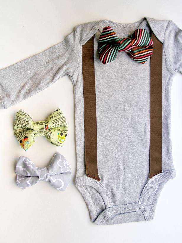 Baby bow tie and suspenders