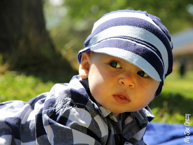 DIY Baby Baseball Hat