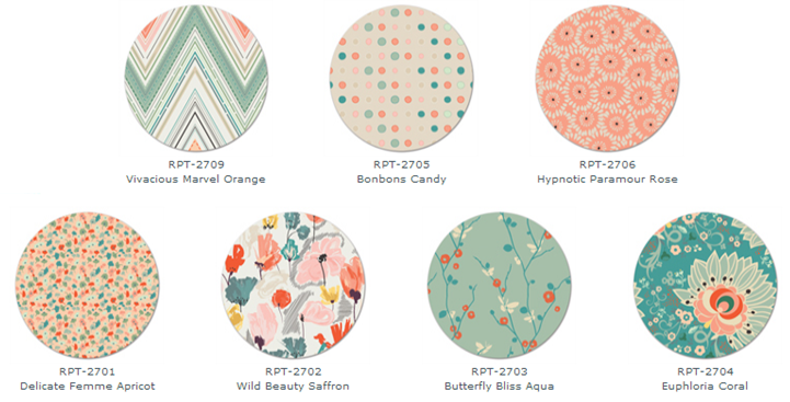 Hexies and Arrows - fabrics from Rapture by Pat Bravo