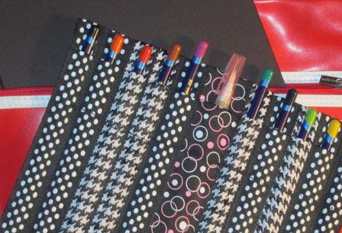ribbon pen case - free tutorial
