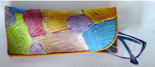 How to Make a Scrappy Glasses Case - variation