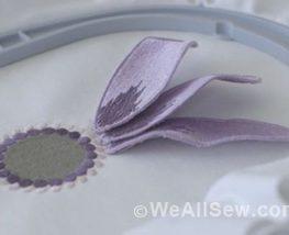 Machine Embroidered Stumpwork Flower