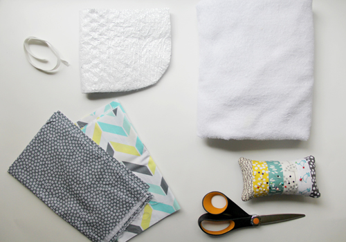 Wrap Burp Cloth with Heat-Retaining Bottle Pocket