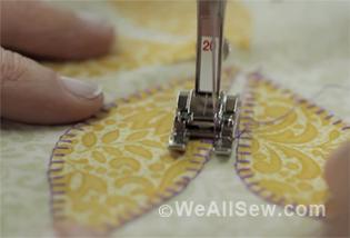 blanket stitch applique video tutorial