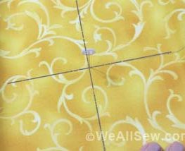 aligning centers in hoopless embroidery