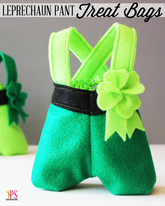 Felt Leprechaun Pant Treat Bags