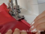 Elastic binding with L 220 cover / chainstitch machine