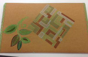 embroidered folio
