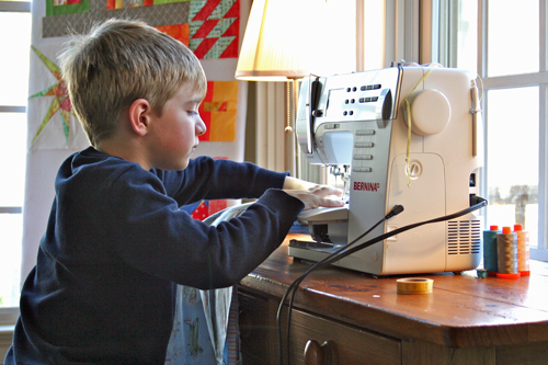 Tips for Sewing with Kids - sewing