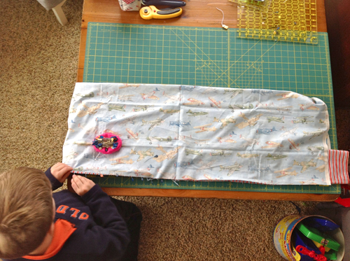 Tips for Sewing with Kids - cutting
