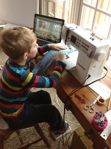 Tips for Sewing with Kids - at the machine