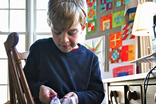Tips for Sewing with Kids - seam ripping