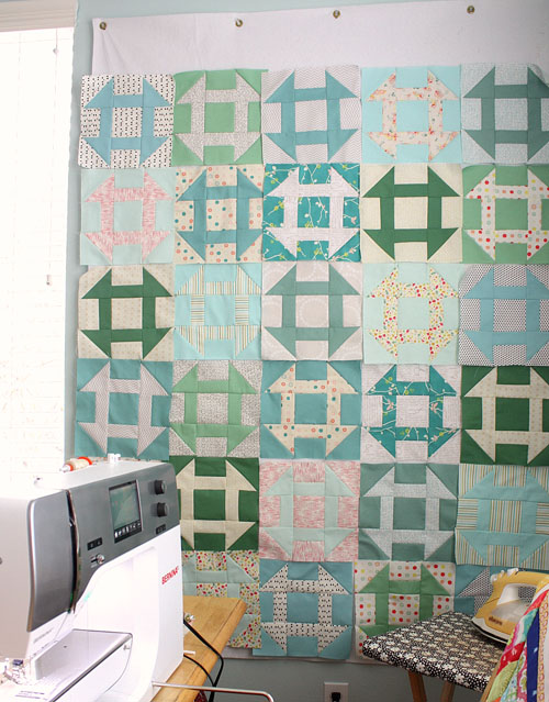 lay out quilt squares