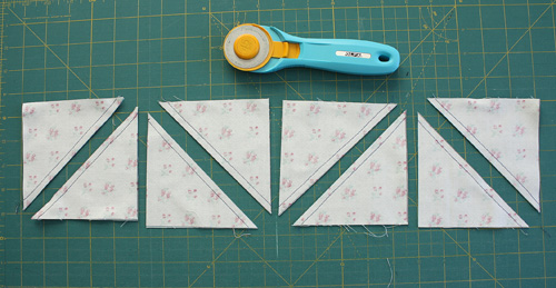 rotary cut half-square triangles