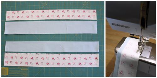 Churn Dash Quilt - sew strips together