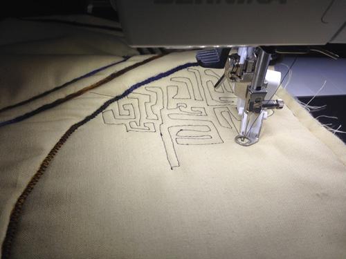 free-motion stitching
