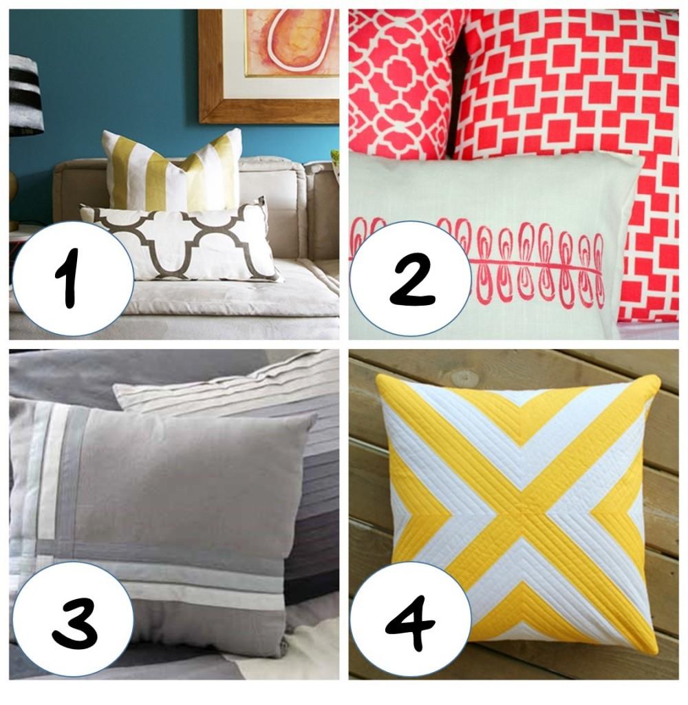Diy Painted Throw Pillows : Best diy decorative pillow tutorials ? WeAllSew