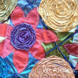 Spirals and Flowers Pillow - diy