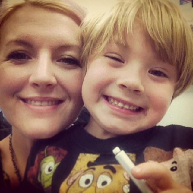 Kari and son