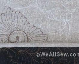 DIY Silk Clutch with Bobbin Work Quilting