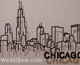 DIY Chicago Skyline Shadowbox