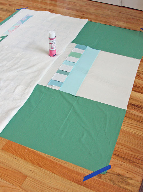 spray baste quilt