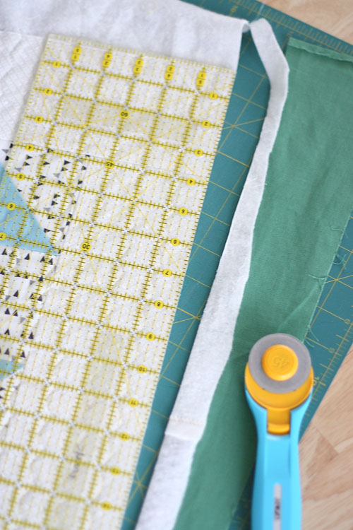 trim the quilt edges