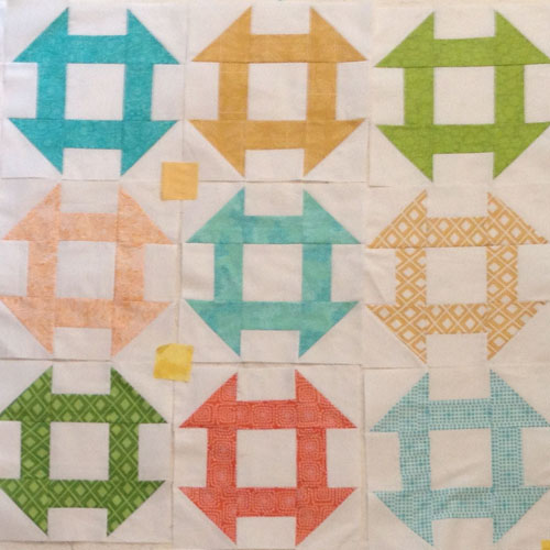 Churn Dash Quilt Block - WeAllSew Quilt-Along -