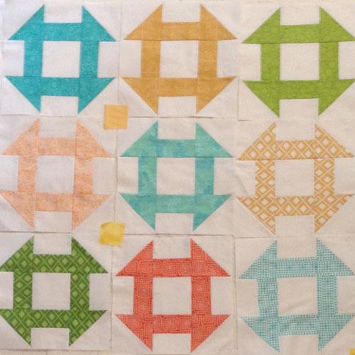 Churn Dash Quilt Block - WeAllSew Quilt-Along -
