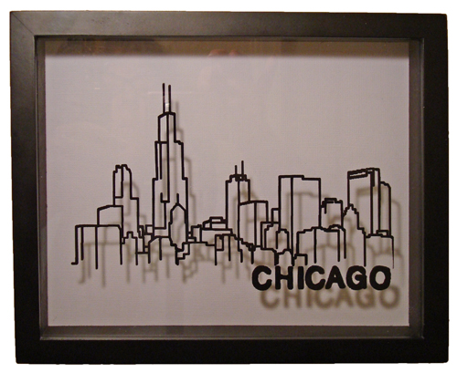 Chicago Skyline Shadowbox