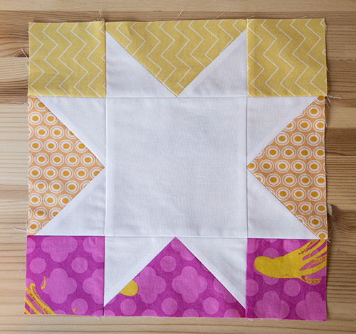 Summer Sparkle block - sunset colors