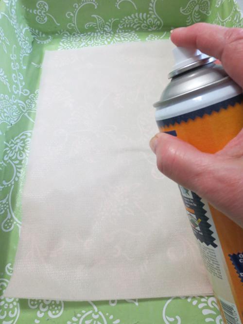 temporary adhesive spray