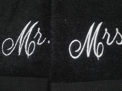 embroidery on towels