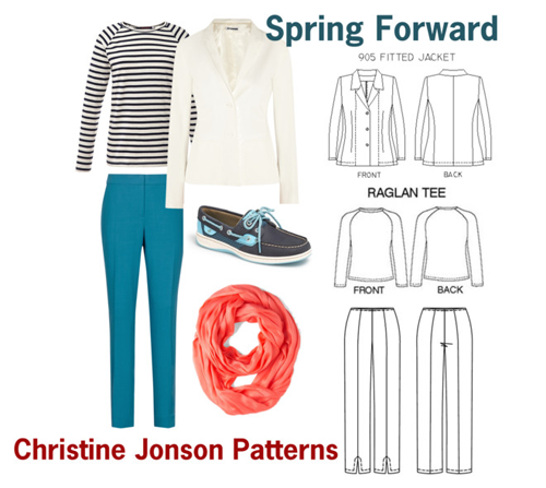 Spring Forward wardrobe capsule by Christine Jonson Patterns
