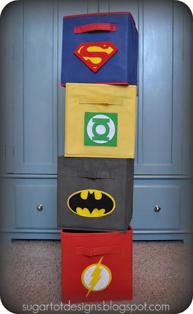 DIY Superhero Bins