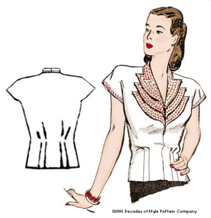 Decades of Style patterns - 1940 Girl Friday Blouse