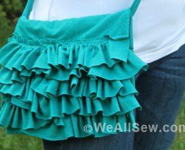 DIY Ruffled Bag