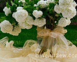 DIY Ruffled Tulle Table Runner