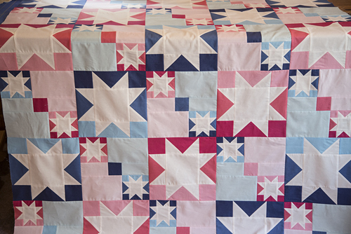 pieced quilt top
