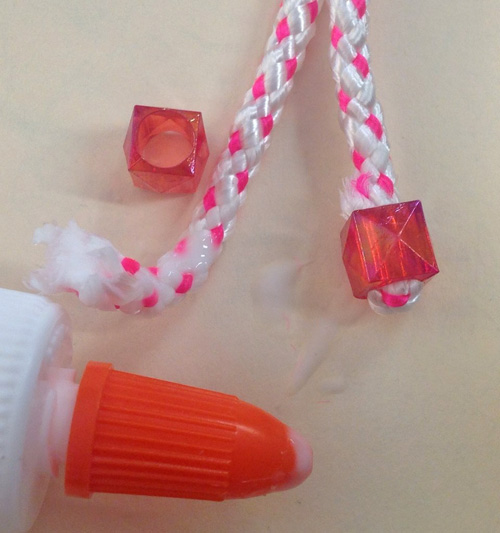 glue beads to cord