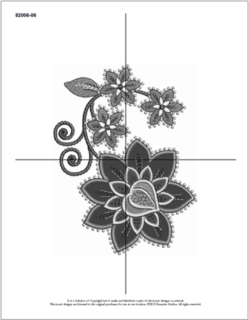 paper embroidery template
