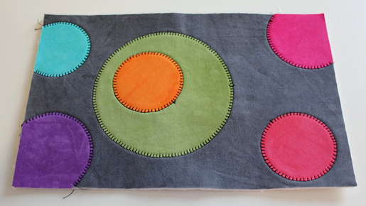 wool applique - stitched