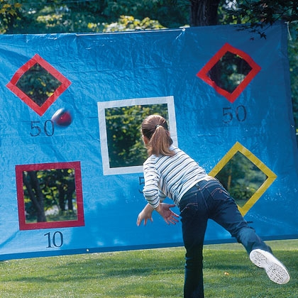 DIY backyard toss game