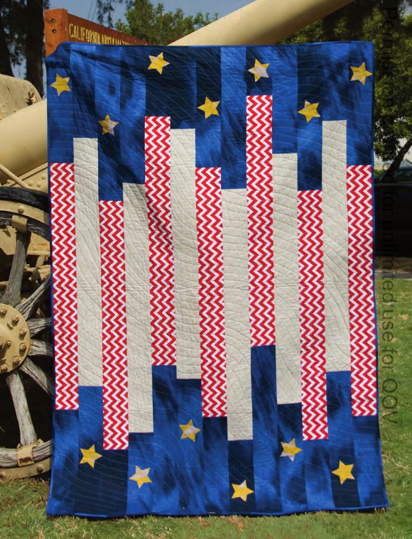 Free Striped and Spangled quilt pattern