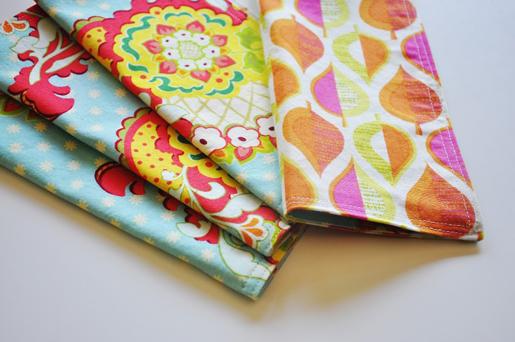 double-stitched napkins