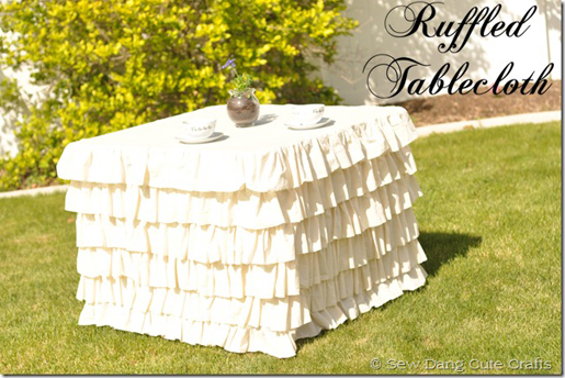 ruffle table cloth