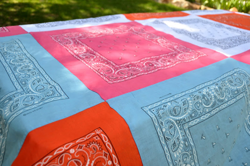 bandana quilt table cloth